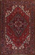 Vintage Geometric Traditional Hand-knotted Area Rug Wool Oriental Carpet 8x11