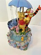Disney's Collectible Winnie The Pooh And Friends Musical Raining Water Fountain