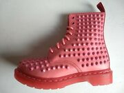Doc Dr. Martens Acid Pink Spike Studded Leather Boots Size 5uk Brand New Rare