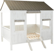 Acme Spring Cottage Full Bed - 37655f - Weathered White And Washed Gray