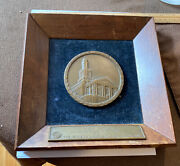 Rare 1930 Bronze Medal Plaque Award Aetna Insurance Aetna Casualty And Surety Co.