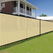 Ek Sunrise 4and039 X 206and039 Beige Fence Privacy Screen Commercial Outdoor Backyard Sh