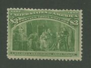 1893 United States Postage Stamp 243 Mint Never Hinged Lightly Disturbed Gum