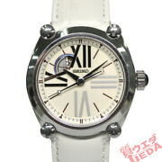 Seiko Galante Sbll001 White Dial Automatic Ss Leather Menand039s From Japan [e0215]