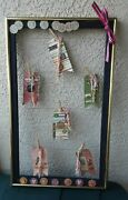 Vintage Metal Frame Photo Wire Upcycle Farmhouse Chic Gold/black Clothpines Tags
