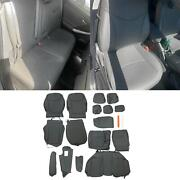 For 2010-2015 Toyota Prius Gray Seat Covers Leather Full Kit Set Front And Rear
