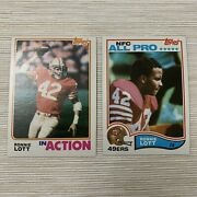 Lot2🔥1982 Topps Ronnie Lott Rookie 486 And 487🔥j-7
