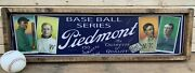 9x36 Antique Style Piedmont T206 Baseball Ad Sign Display Ty Cobb Cy Young