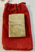 Vintage Zippo 1992 Camel Solid Brass Lighter Blm 1932-1991 Made In Usa