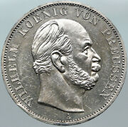 1871 Germany German States Prussia Wilhelm I Defeated France Silver Coin I88423