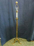 3444m Vtg 56 Remington Floor Lamp Polished Lacquered Brass 3way Light Beautiful