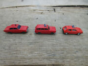 Wiking Fire Chief Cars Unmarked, Vw Variant 1500, Vw Golf N Scale 1 5/8 To 2