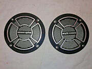 Cycle Sound Speaker Grills 5 In. Round Pair 4 1/2 Hole To Hole Vetter Sound
