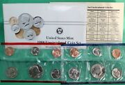 1988 P And D United States Mint Uncirculated 10 Coin Set Bu