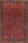 Antique Traditional Geometric Area Rug Hand-knotted Wool Oriental Carpet 7x11