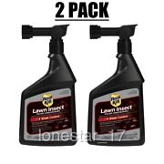 Lot Of 2 Real-kill 32 Oz. Ready To Spray Lawn Insect Control Easy To Use Spray