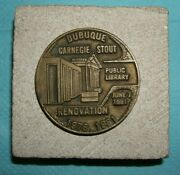 Dubuque Carnegie Stout Public Library Renovation Paperweight 1978-1981 Coin