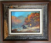 Ted Blaylock Small Southern Landscape With Antique Automobile