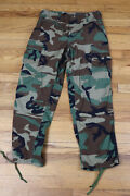Vintage 90s Army Woodland Camo Cargo Pants - Military - Size Small Short
