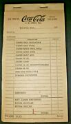 Vintage Coca Cola Salesman Tell City Ind Coke 1970 Receipt Book New Old Stock
