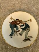 Norman Rockwell Set Of 4 1981 Four Seasons Series Plates