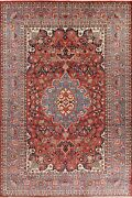 Floral Semi-antique Traditional Hand-knotted Area Rug Wool Oriental Carpet 9x13
