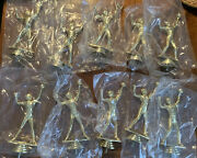 Lot Of 10- Vintage Woman's Volleyball Trophy Topper-dundie- Crafts-finial