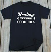 Boating Gift For Him Fathers Day Boating Boat Fishing Lover Gift Sailor Tee