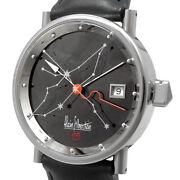 Alain Silberstein Automatic Black Dial Date World Limited Ss Menand039s Watch [b0217]