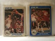 1985 Star Company Sixers 5x7 Sealed Series 1 And 2 Team Set Charles Barkley Rookie