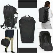 New 228 Lululemon More Miles Pack 39l Backpack And Duffle Combo Black