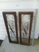 Pair 34 Farmhouse Wood And Metal Window Gothic Frame Rustic Cottage Country