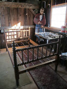 Rock Maple Spool Bed From The Maine State Prison In Thomaston Maine.