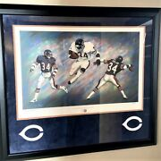 Walter Payton Hof Chicago Bears Signed Autographed Print Poster 661/1993 Coa