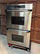 Dacor Double Wall Oven Model Ecd230sbk Serial Va0271680 Works Great Freight
