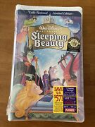 Disney Vhs Sleeping Beauty Masterpiece New Factory Sealed Limited Edition Rare