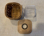 2004 Longaberger Paper Clip Keeper Basket And Protector