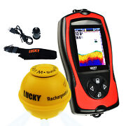 Lucky Wireless Fish Finder 45m Depth 100m Sonar Sensor Portable Rechargeable
