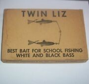 Rare Arbogast Twin Liz Dealer Box Ex- And Two New Original Lures In Boxes/papers