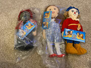 Wizard Of Oz 1988 Live 50th Anniv. Arena Tour Dolls Set Of 3 By Applause