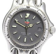 Tag Heuer Cell S99.213m/e Quartz Date Ss Gray Dial Boys Watch Used