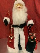 Vintage Large 19andrdquo Santa Claus Christmas Tree Topper Plastic Face Harold Gale