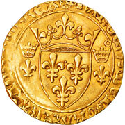 [876837] Coin France Charles Vii Ecu Dand039or 1450 Toulouse Ef Gold