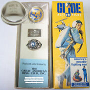 1994 Hasburo Limited Edition Gi Joe 30th Salute Ring Only 2000 Diameter 22.5 Mm