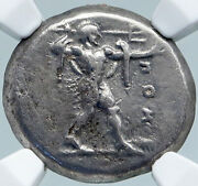 Poseidonia Paestum In Lucania Authentic Ancient Silver Greek Coin Ngc I87806