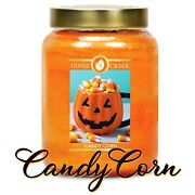Goose Creek Candy Corn Large Jar Candle 24 Oz ⭐new And Fresh⭐ 150 Hrs ⭐ 2-wicks
