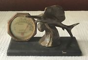 Antique Rochester Desk Thermometer W. Sword Fish, Srg Brooklyn. Ny, Functional