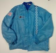 Vintage Great Lakes Sportswear Racing Stripe Jacket Size M Ford Usa Patches