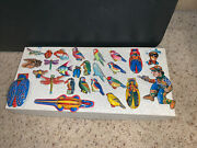 Huge Litho Tin Toy Clickers Pins Brooch Badge Lone Ranger Cowboys Indians Lot