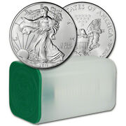 2011 American Silver Liberty Eagle Roll Of 20 Oz 99.9 Pure Silver Free Shipping